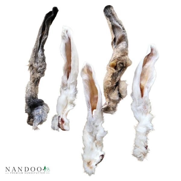 Kaninchenohren mit Fell - Natürliche Darmreinigung 10 Stück